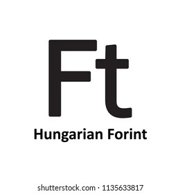 Hungarian Forint symbol icon. Vector.