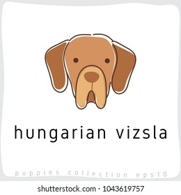 Hungarian Vizsla : Dog Breed Collection : Vector Illustration