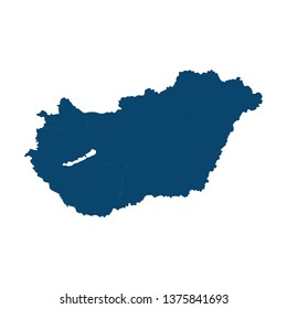 hungary country border map. international vector template on white background. vector illustration
