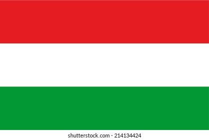 Hungary vector flag illustration.