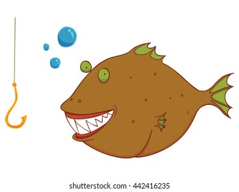 hungry wild fish