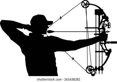 hunter aiming with compound bow