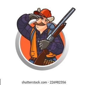 Hunter. Cartoon character