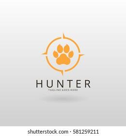 Hunter logo. Paw logotype
