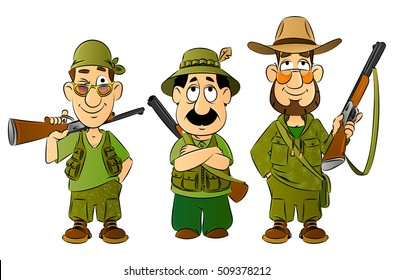 Hunters. Set mascots.