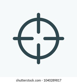 Hunting aim, sniper target vector icon