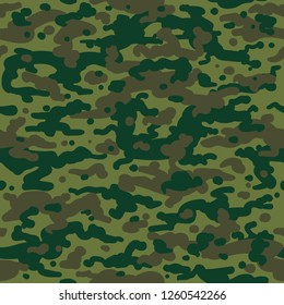 Hunting camouflage pattern. February 23 background, khaki seamless pattern in millitary style, vector background