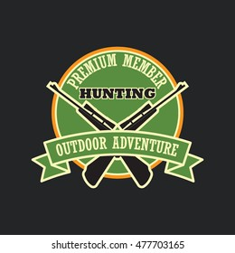 Hunting club badge