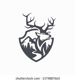 Hunting Club Logo Vector Template