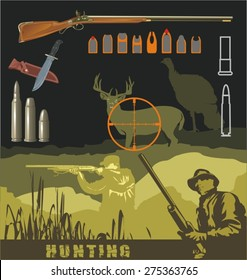 Frontiersman Pioneer Vector Mascot Holding a Bowie Knife and wearing a Coonskin  Hat. Edit. Artist. Similar. Save. hunting design elements a0a1888aa6a9
