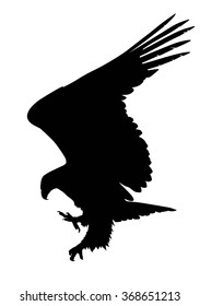 Hunting eagle  vector silhouette