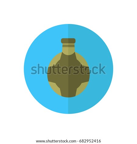 Hunting Equipment Gear Hunt Vector Flask Stock Vector