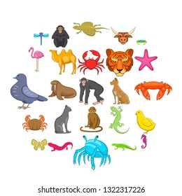 Hunting icons set. Cartoon set of 25 hunting vector icons for web isolated on white background