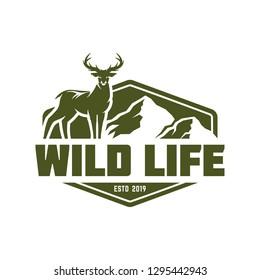 Hunting logo, deer hunting stamp