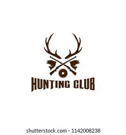 Hunting logo design template