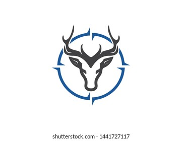 Hunting logo design template,Hunting club