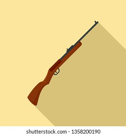 Hunting rifle icon. Flat illustration of hunting rifle vector icon for web design