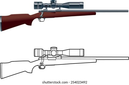 hunting rifle with scope