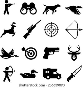 Hunting and sportsman icons