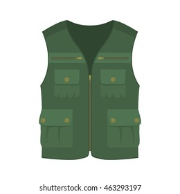 Hunting vest. Cartoon vector illustration.