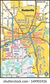 Huntsville, Alabama area map