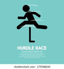 Hurdle Race Vector Illustration