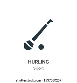 Hurling vector icon on white background. Flat vector hurling icon symbol sign from modern sport collection for mobile concept and web apps design.