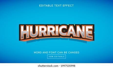 Hurricane 3D editable text effect template