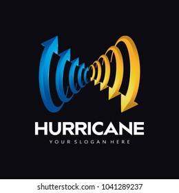 hurricane Arrow Logo Icon