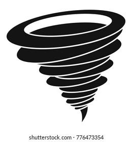 Hurricane cyclone tornado twister icon. Simple illustration of cyclone tornado twister hurricane vector icon for web