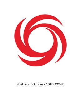 Hurricane icon. Nature Disaster symbol. Dangerous rotating column of air.