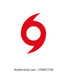 hurricane scale icon, logo warning vector. vortex symbol. cyclone storm. severe damage tornado. typhoon disaster hazard. graphic swirl on white background. usa