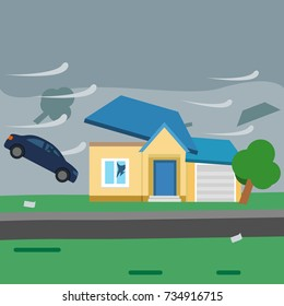 Image result for roof flying off house cartoon