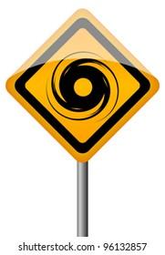 Hurricane vector sign, eps10 illustration