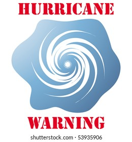 Hurricane warning icon isolated on white vector