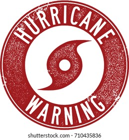 Hurricane Warning Severe Weather Stamp