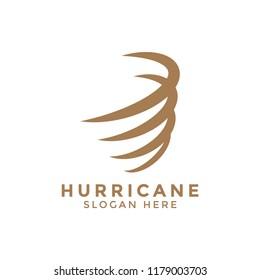 Hurricane whirlwind logo icon design template vector graphic
