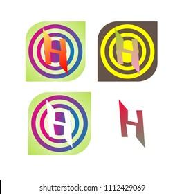 Dans stock vectors images vector art shutterstock huruf h dalam kotak dan tiga lingkaran warna warni dan logo yang sangat bagus ccuart Gallery