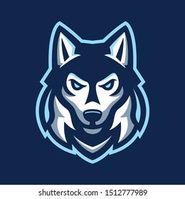 husky dog animal mascot logo