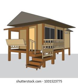 Hut Building, vector & illustration, image 3