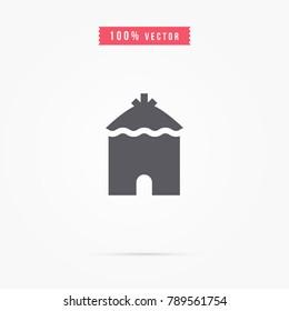 Hut icon. african house symbol
