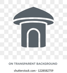 Hut icon. Trendy flat vector Hut icon on transparent background from Architecture and Travel collection. High quality filled Hut symbol use for web and mobile