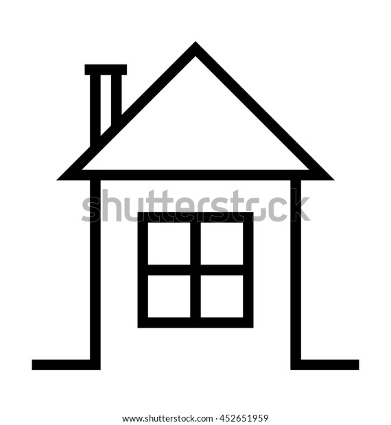 Color Hut Textures: Hut Vector Icon Stock Vector (Royalty Free) 452651959