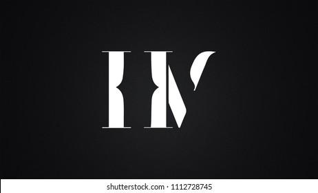 HV Letter Logo Design Template Vector