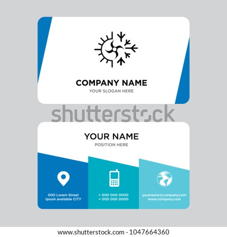 Hvac business card design template visiting stock vector royalty hvac business card design template visiting for your company modern creative and clean identity wajeb Gallery