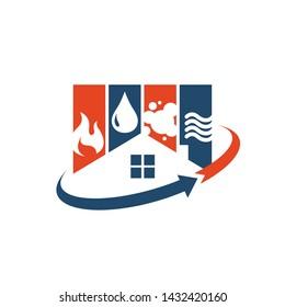 hvac logo design vector business company