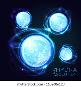 Hyaluronic acid or abstract chemical molecules design