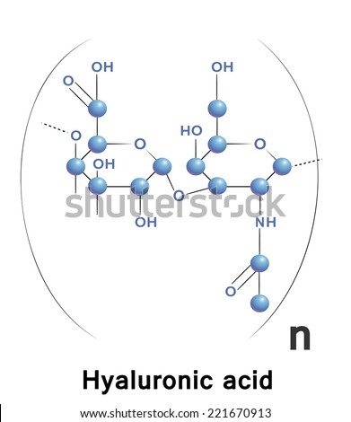 Hyaluronic Acid Chemical Formula Molecule Structure Stock Vector