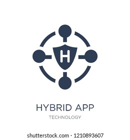 Hybrid app icon. Trendy flat vector Hybrid app icon on white background from Technology collection, vector illustration can be use for web and mobile, eps10