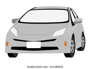 Hybrid car, Silver car